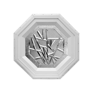 Bevelpane Octagon Window with Multi-bevel Deco