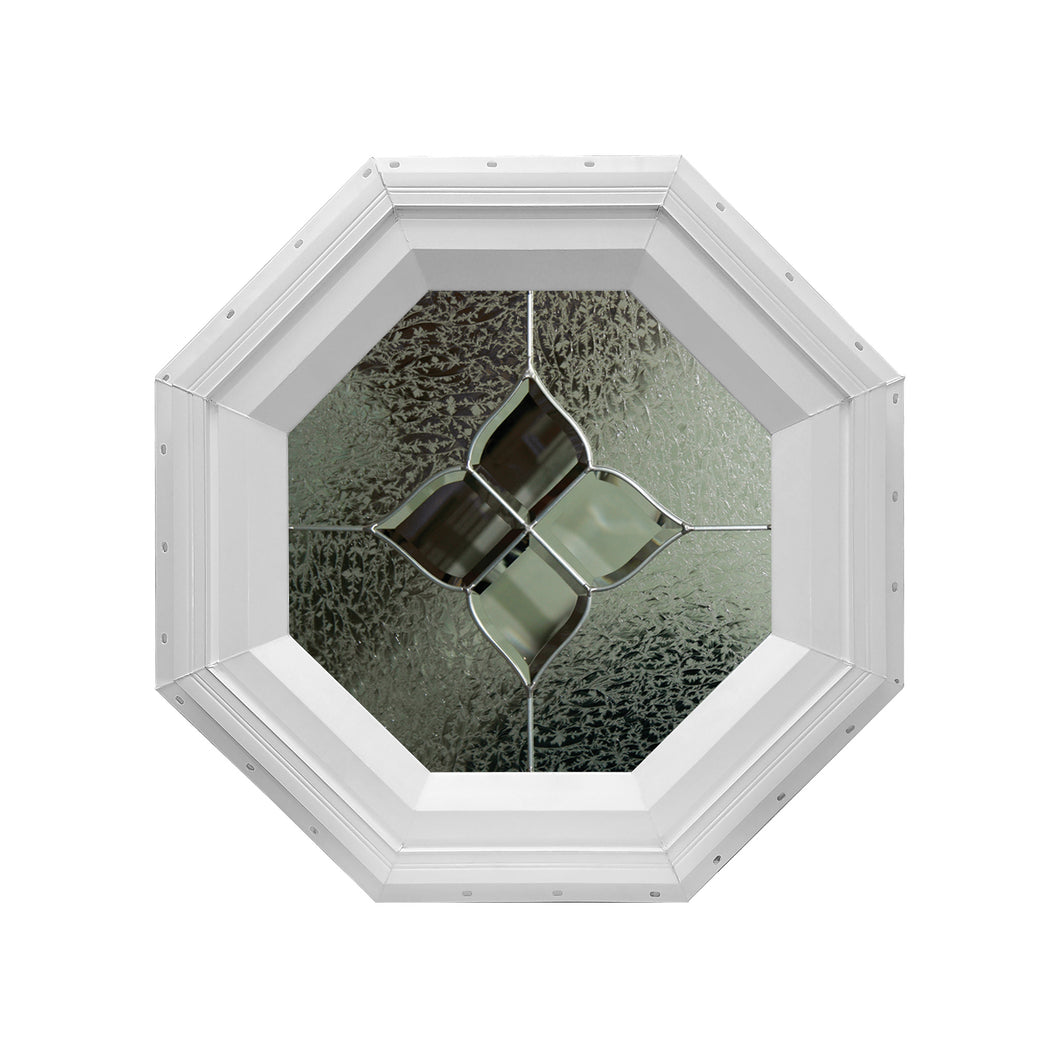 Avalon Decorative Stationary Octagon Window with Zinc Caming