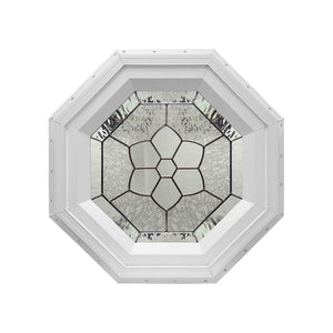 Windsor Decorative Stationary Octagon Window with Zinc Caming