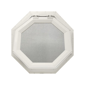 Clear Venting Octagon Window Beige
