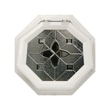 Flower Venting Octagon Window with Zinc Caming Beige