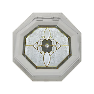 Bevel Cluster Venting Octagon Window Clay