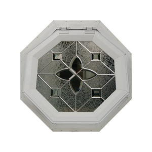 Flower Venting Octagon Window with Zinc Caming Clay