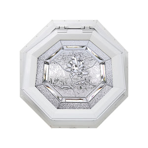 Bevelpane Venting Octagon Window with Rose Deco