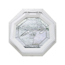 Bevelpane Venting Octagon Window with Hummingbird Deco