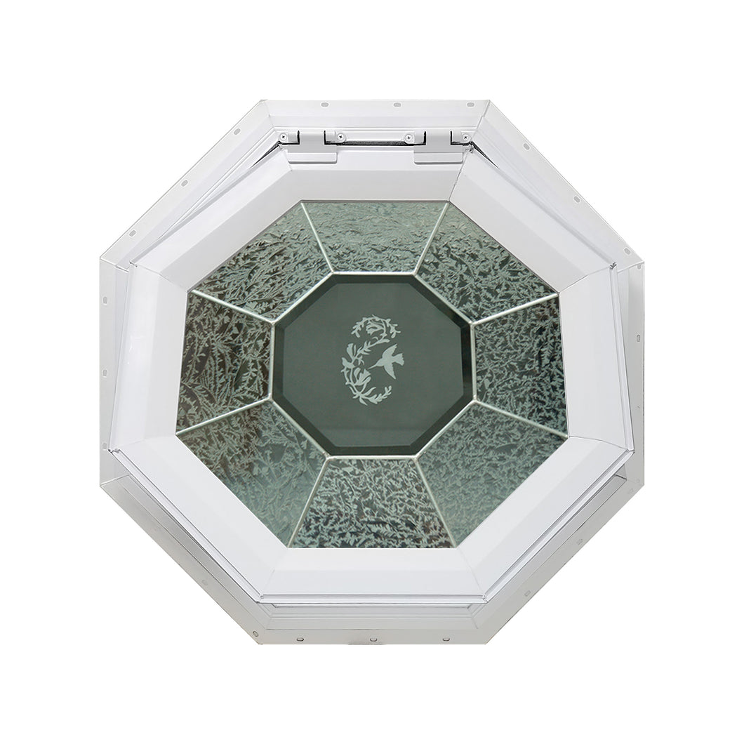 GC Hummingbird Venting Octagon Window with Zinc Caming