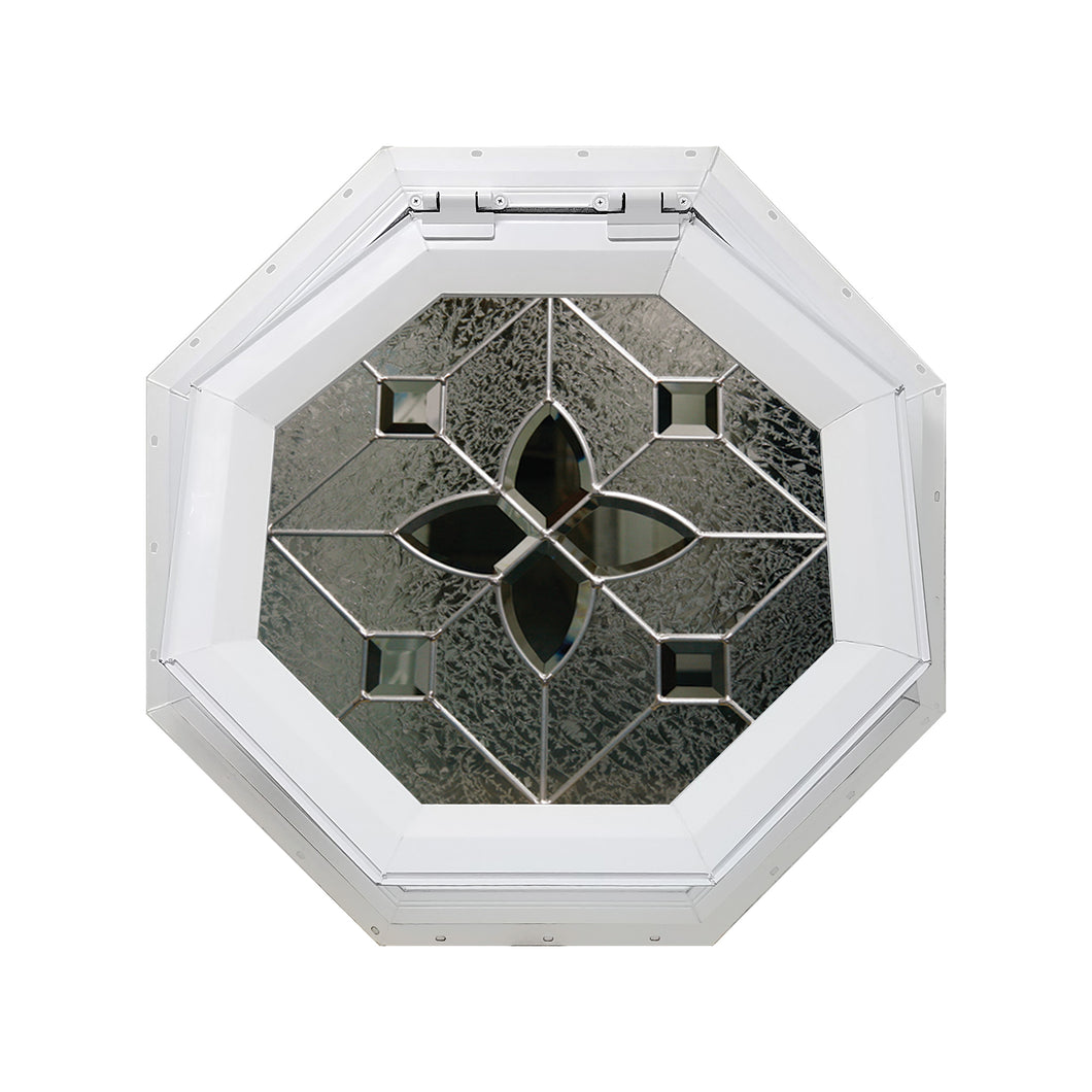 Flower Venting Octagon Window with Zinc Caming