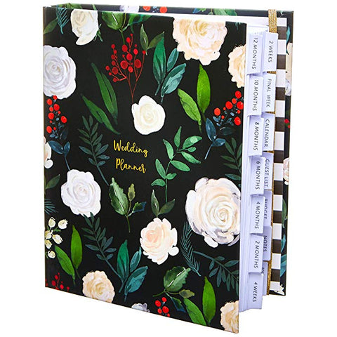 floral wedding planner book with sections