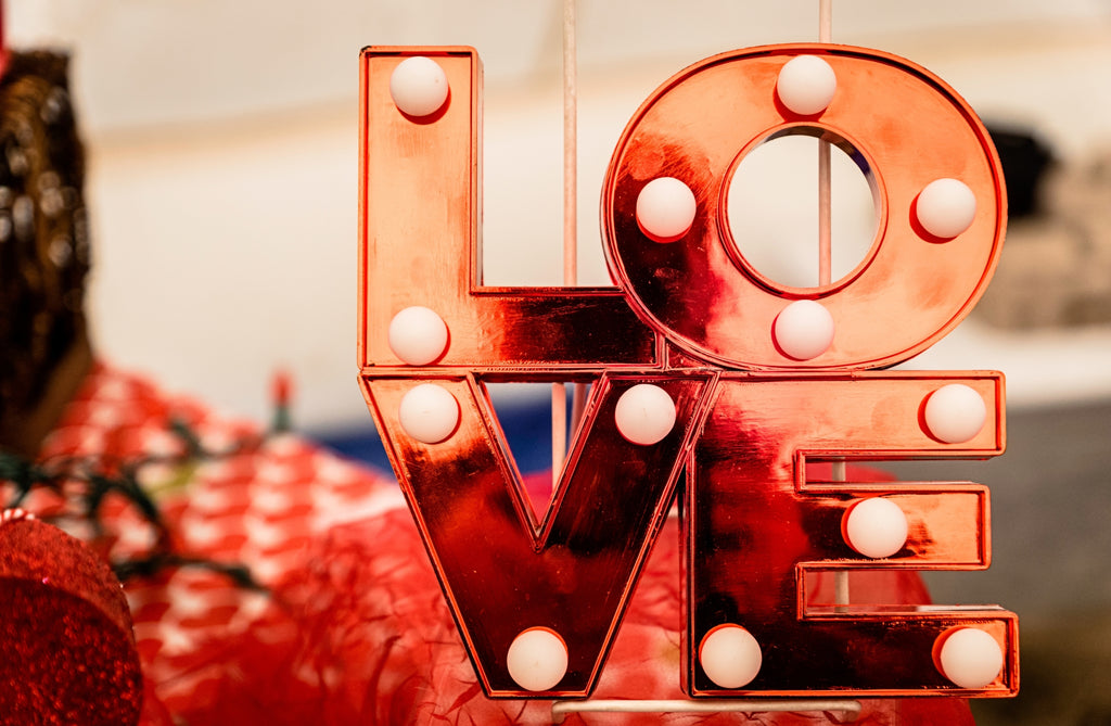 LOVE sign lights