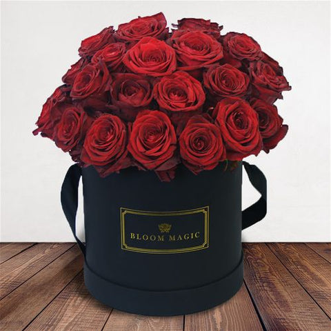 Bucket of red roses for valentine's day