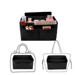 Handbag organiser insert in black