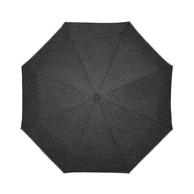Load image into Gallery viewer, Black dotted compact umbrella by Geni