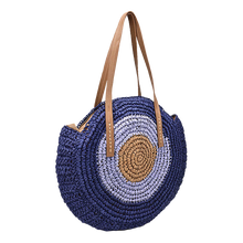 Load image into Gallery viewer, Round beach straw bag