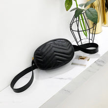 Load image into Gallery viewer, Black faux leather bum bag