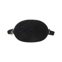 Load image into Gallery viewer, Black velvet bum bag