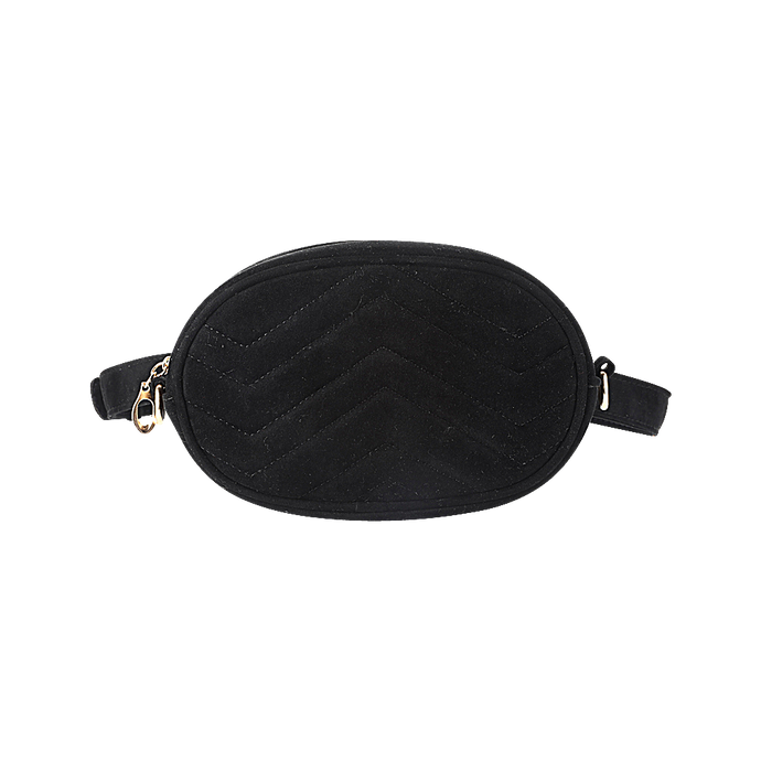 Black velvet bum bag