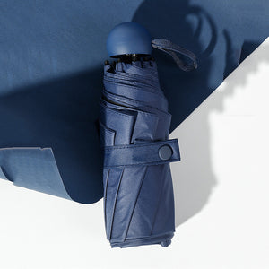 Navy blue compact umbrella