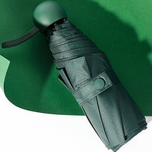 Forest green compact umbrella