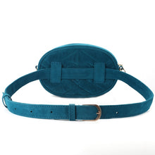 Load image into Gallery viewer, Turquoise velvet bum bag