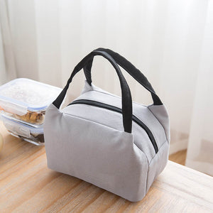 Insulated lunch bag in grey