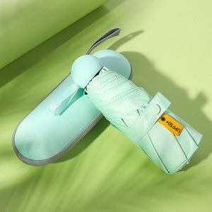 Mint compact umbrella with case