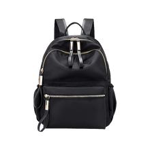 Load image into Gallery viewer, Black nylon backpack