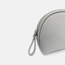 Load image into Gallery viewer, Grey leather makeup bag by Geni