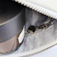 Load image into Gallery viewer, It's what's on the inside that counts faux leather white pouch