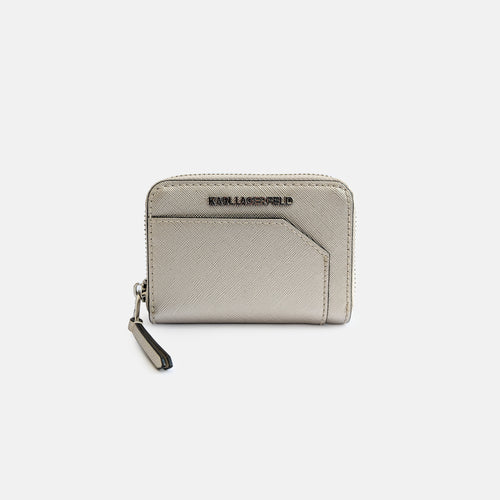 Karl Lagerfeld champagne silver wallet