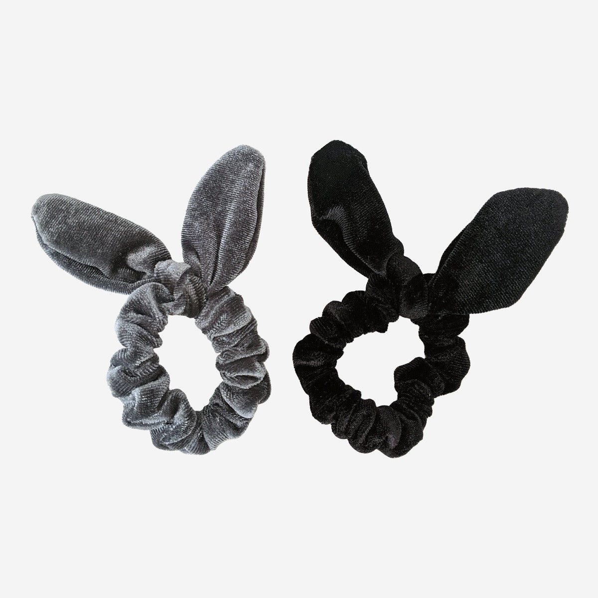 Velvet bunny scrunchies pack of 2