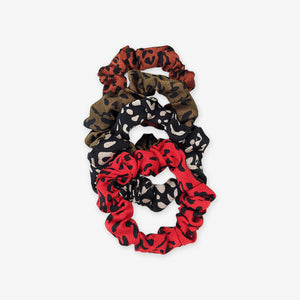 Thin satin scrunchies set of 4