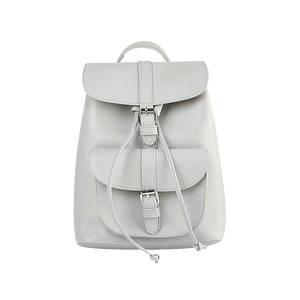 Grey faux leather satchel backpack