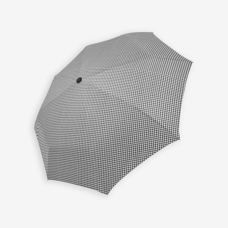 Black gingham compact umbrella by Geni