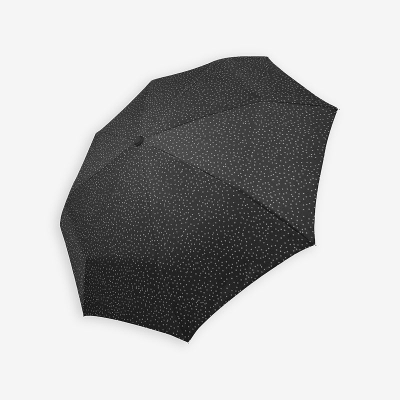 Black dotted compact umbrella by Geni