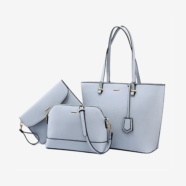 Handbag set in light blue