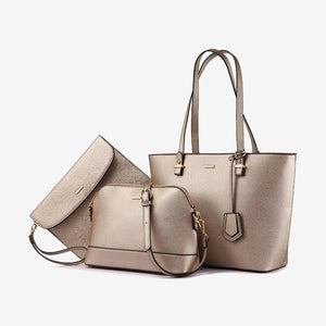 Handbag set in sparkling champagne