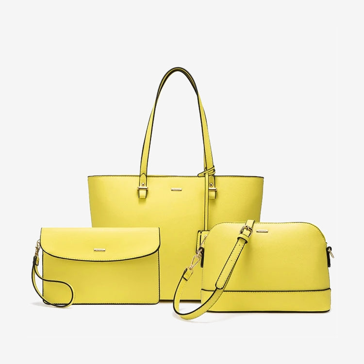 Handbag set in yellow