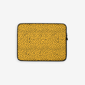 Laptop sleeve in leopard print