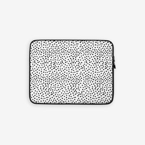 Laptop sleeve in dalmatian print