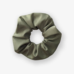 Khaki green slinky scrunchie
