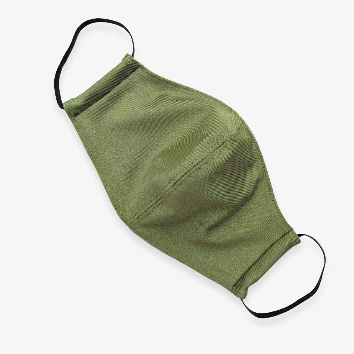 Khaki green stretchy face mask