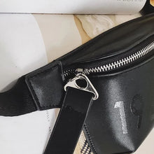 Load image into Gallery viewer, Faux leather bum bag in black