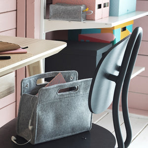 Slim handbag organiser with handles