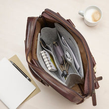 Load image into Gallery viewer, Slim handbag organiser with handles