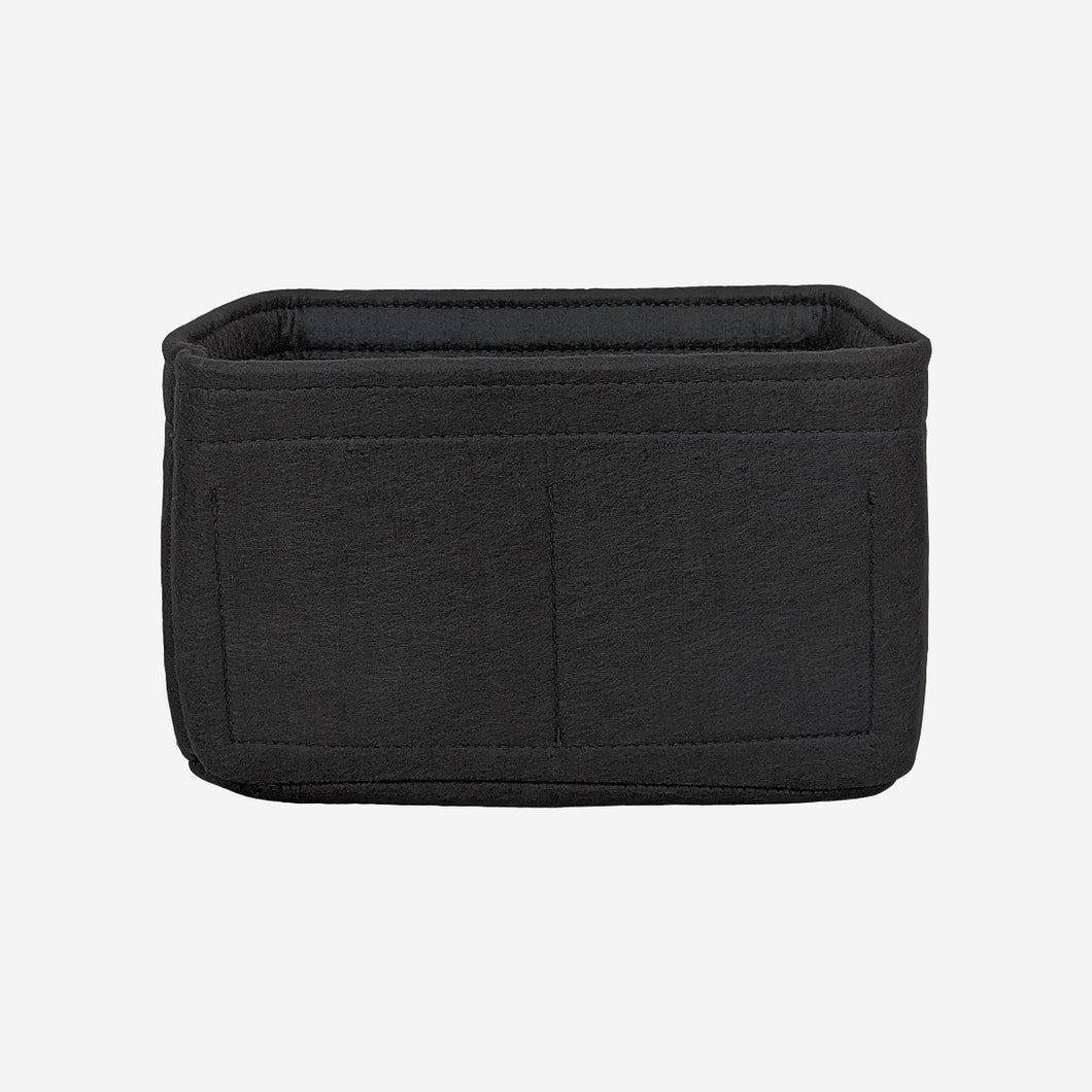 Mini handbag organiser insert in black