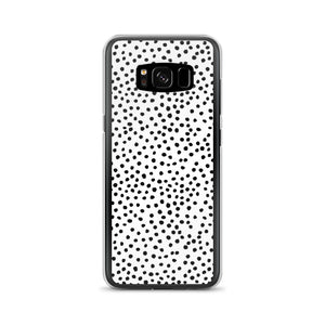 Samsung phone case in dalmatian print