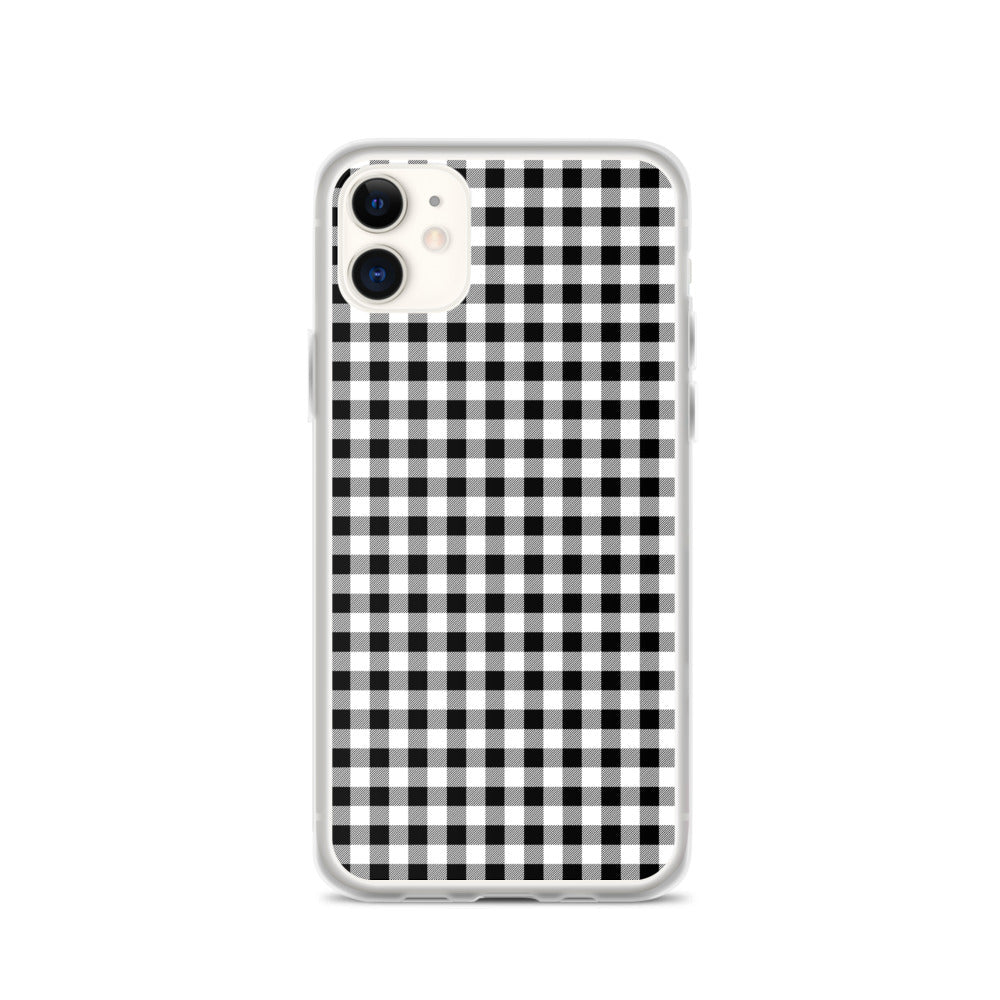 iPhone case in gingham print