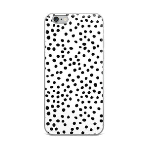 iPhone case in dalmatian print