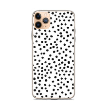 Load image into Gallery viewer, iPhone case in dalmatian print