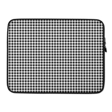 Load image into Gallery viewer, Laptop sleeve in gingham print